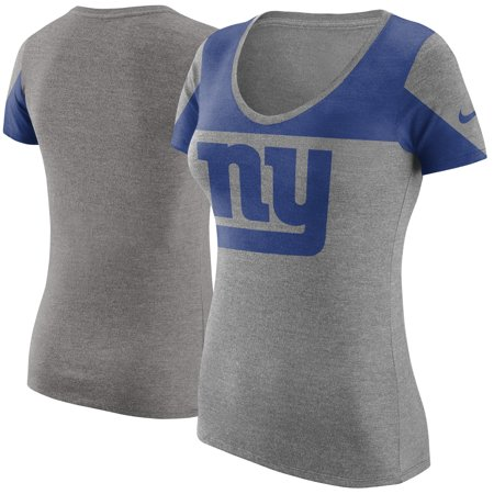 New York Giants Nike Women's Champ Drive 2 Tri-Blend T-Shirt - Heathered