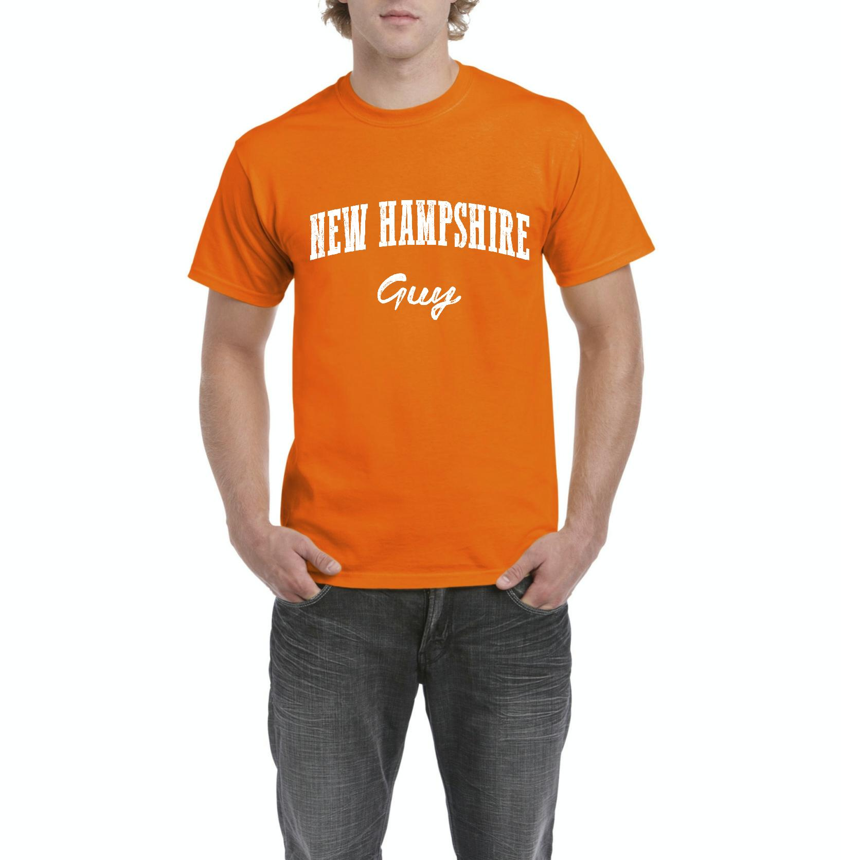 J_H_I NH Guy Flag Manchaster Concord Map Wildcats Home University of New Hampshire Mens Shirts
