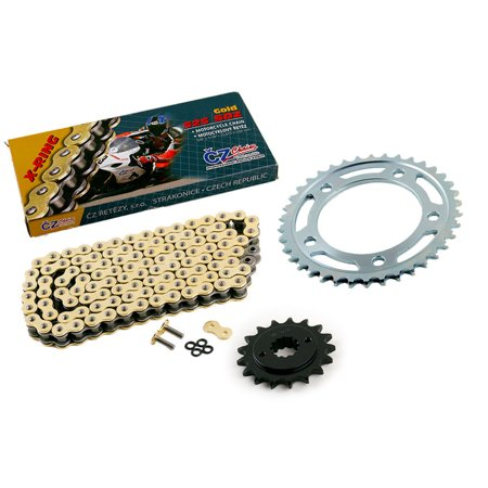 07 Honda VT750 750 Shadow Spirit CZ SDZ Gold X Ring Chain & Sprocket 17/38