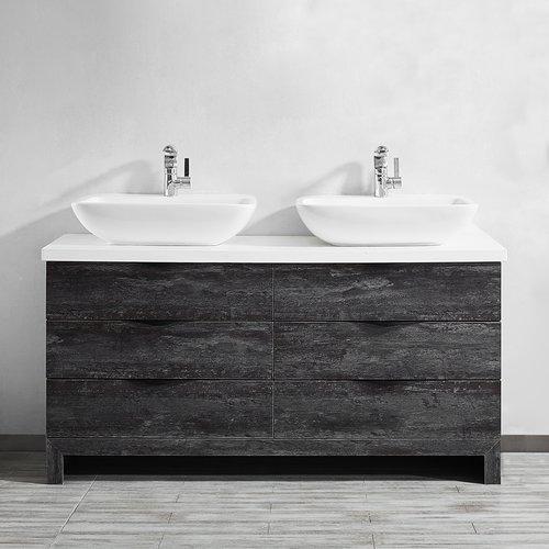 Rustic double bathroom vanity Diy Walmart Union Rustic Kelsey 59 Double Bathroom Vanity Set Walmartcom