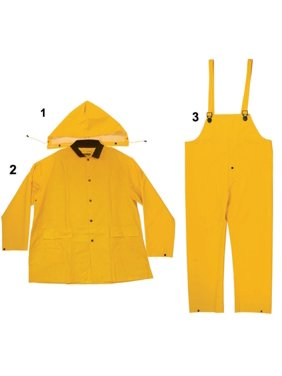 Enguard 3pc heavy-duty yellow rain suit