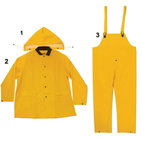 Enguard 3pc heavy-duty yellow rain suit