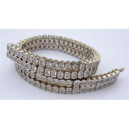 Harry Chad Enterprises 23611 24.5 CT Diamond Round Bezel Set Carpet Tennis Bracelet - image 1 de 1