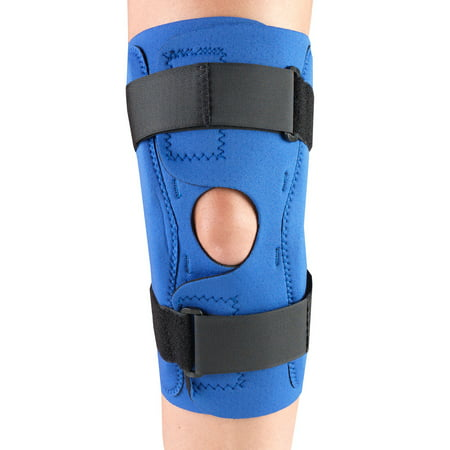 OTC Neoprene Knee Stabilizer Wrap - Hinged Bars, Blue,