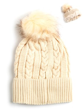 400ebeaf157 Product Image Newbee Fashion - Women Winter Faux Fur Pom Pom Beanie Hat  with Warm Fleece Lined Thick