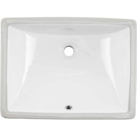 Magnus Sinks 18-in x 13-in Glazed Porcelain Bathroom Sink in White