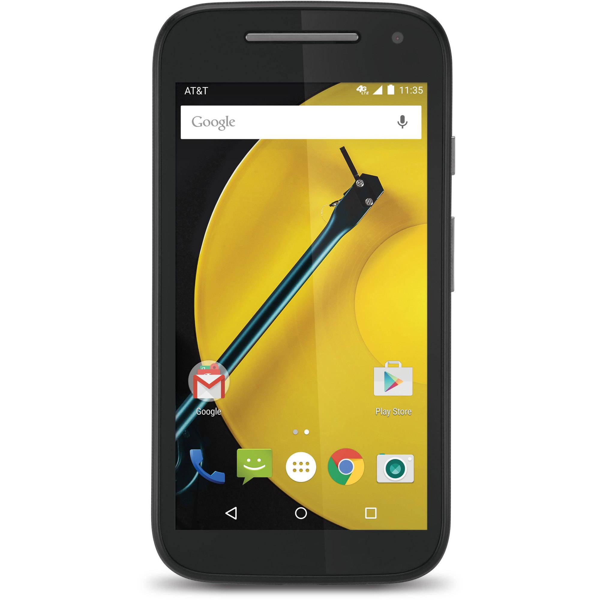 AT&T GoPhone MOTO E MotorolaNo-Contract 8GB Black AT&T