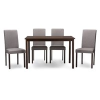 Baxton Studio Andrew Contemporary Espresso Wood 5 Pc Dining Set Multiple Colors