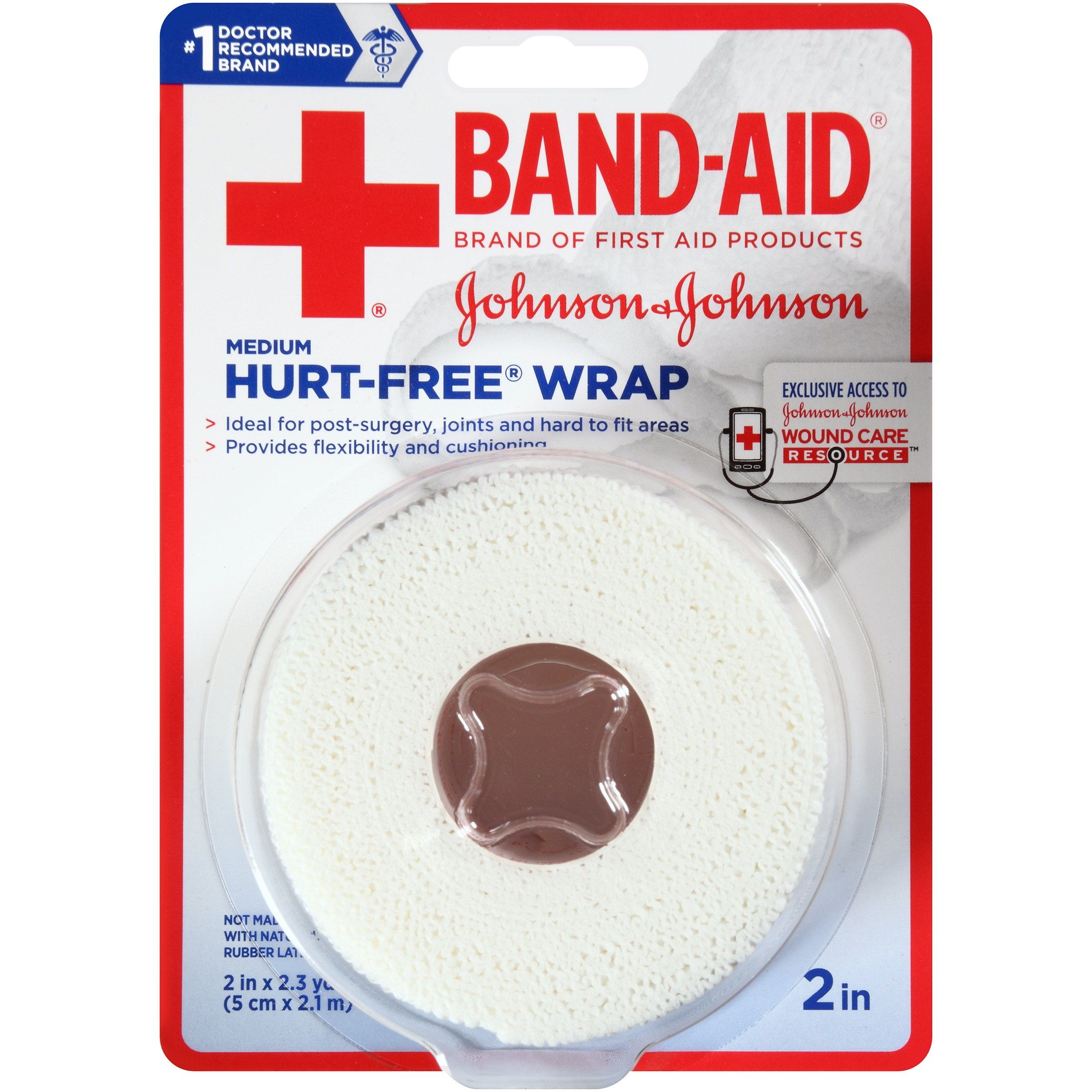 BAND-AID Brand of First Aid Products HURT-FREE Wrap for Securing Dressings On Post-Surgical Wounds, 2 Inches by 2.3 Yards by Johnson & Johnson