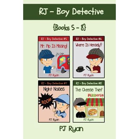 Rj - Boy Detective Books 5-8 : 4 Fun Short Story Mysteries for Children Ages - Halloween Short Stories For Children