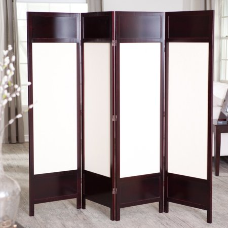 Griffin Canvas  Panel Room Divider Rosewood