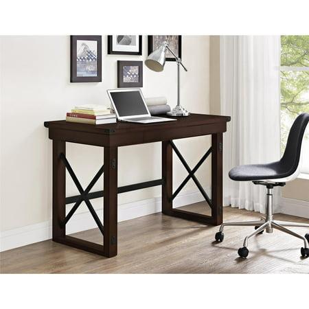 Ameriwood Home Wildwood Wood Veneer Desk, (Veneer Straight Front Desk)
