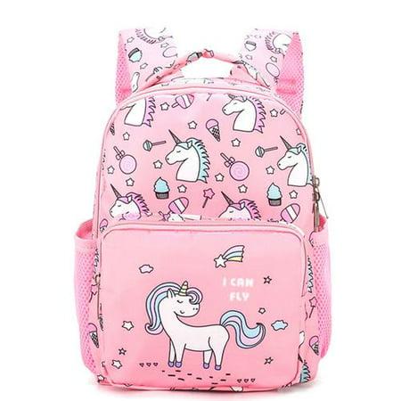 KABOER Fashion Kindergarten Cute Unicorn Little Girls Boys Kids School Bags Book Backpacks Unicorn Rucksack School Season