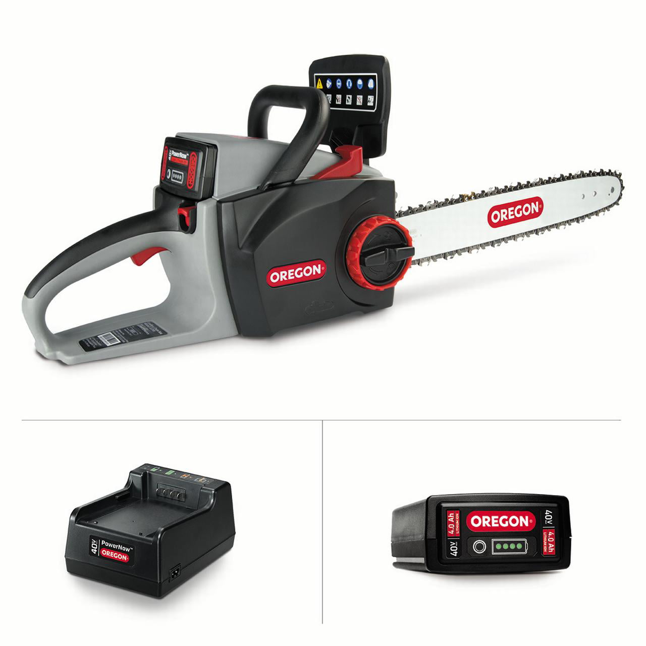 Oregon 40V Max CS300 Chain Saw Kit with 4.0 Ah Battery Pack and Standard Charger by Blount Inc