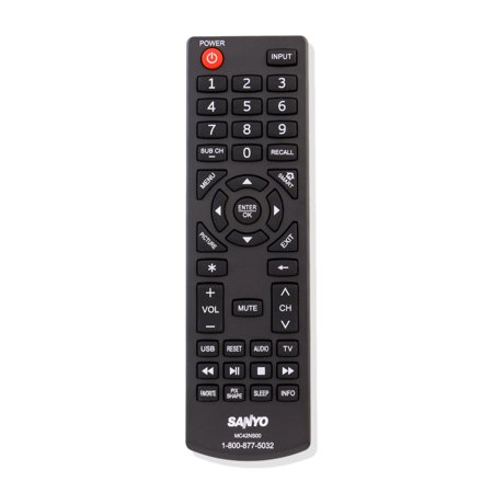 New MC42NS00 LCD LED HDTV Remote For Sanyo DP24E14 DP39D14 DP42D24 DP50E44 DP55D44 DP58D34 DP65E34 FVD3924 FVD5044 FVF5044M