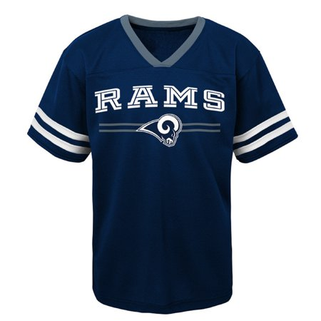 Louis Rams Youth Short (Youth Navy Los Angeles Rams Mesh V-Neck)