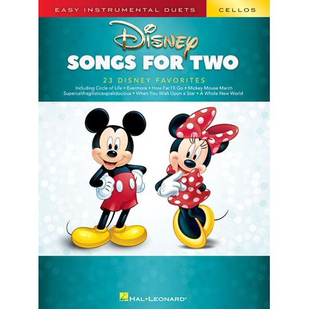 Disney Songs for Two Cellos: Easy Instrumental Duets (Paperback)