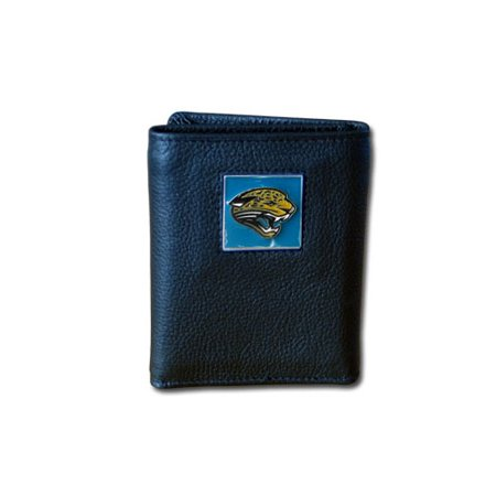 Jacksonville Jaguars Official NFL Leather and Nylon Trifold Wallet by Siskiyou