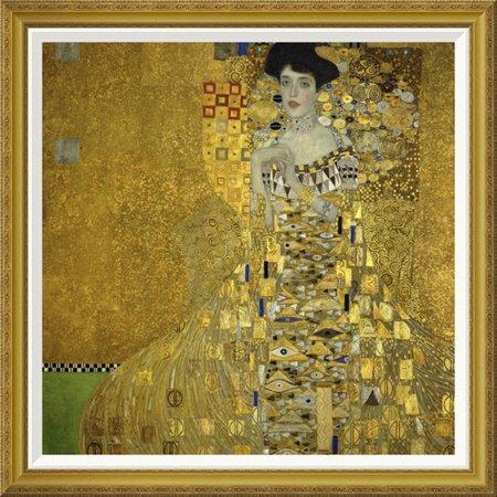 Global Gallery Portrait Of Adele Bloch Bauer I 1907 By Gustav Klimt Framed Painting Print