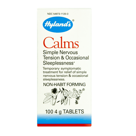 Hyland's Calms Nerve Tension Sleeplessness Tablets, 100 Count