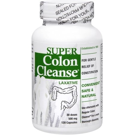 Health Plus Super Colon Cleanse Psyllium with Herbs, 500mg Capsules 120 ea