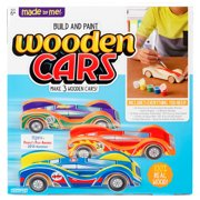 Made By Me Build and Paint Wooden Cars, 3 Race Cars, 6+