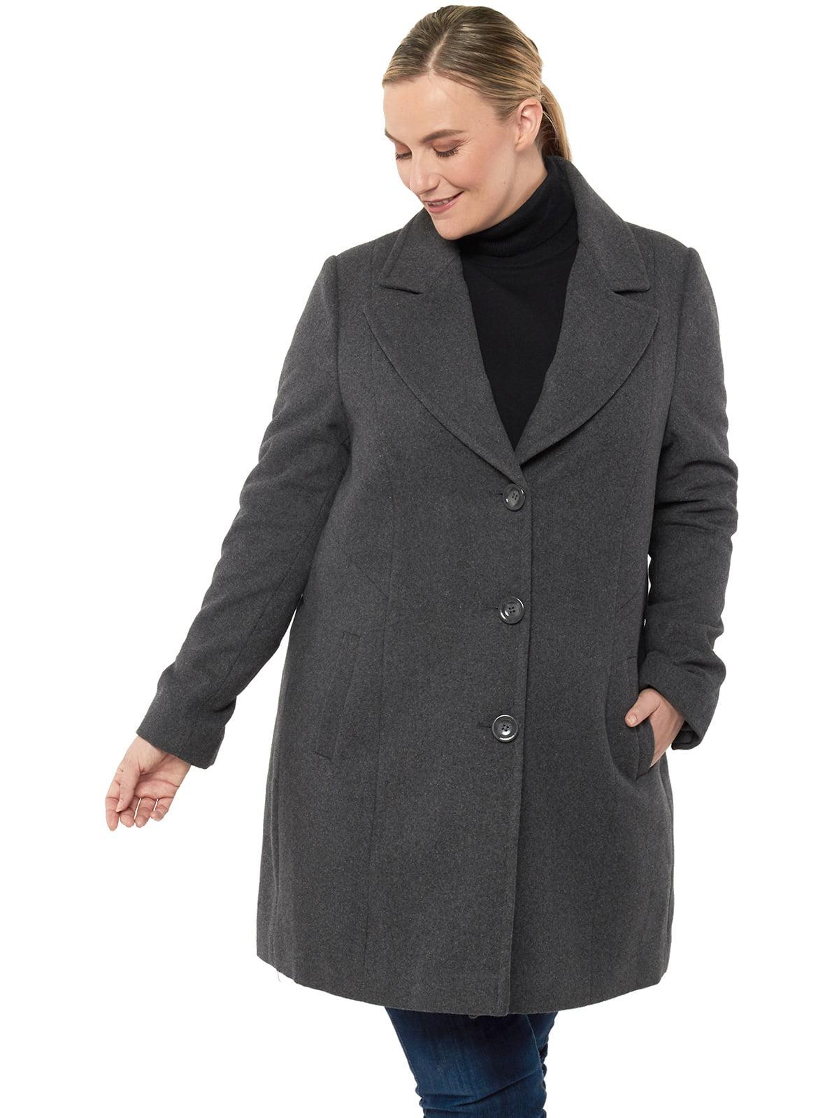 S-Fly Womens Buttons Woolen Blend Overcoat Classic Notch Lapel Walking Coat