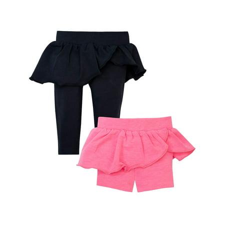 Newborn Baby Girl Skeggings & Biker Shorts Set, 2pc