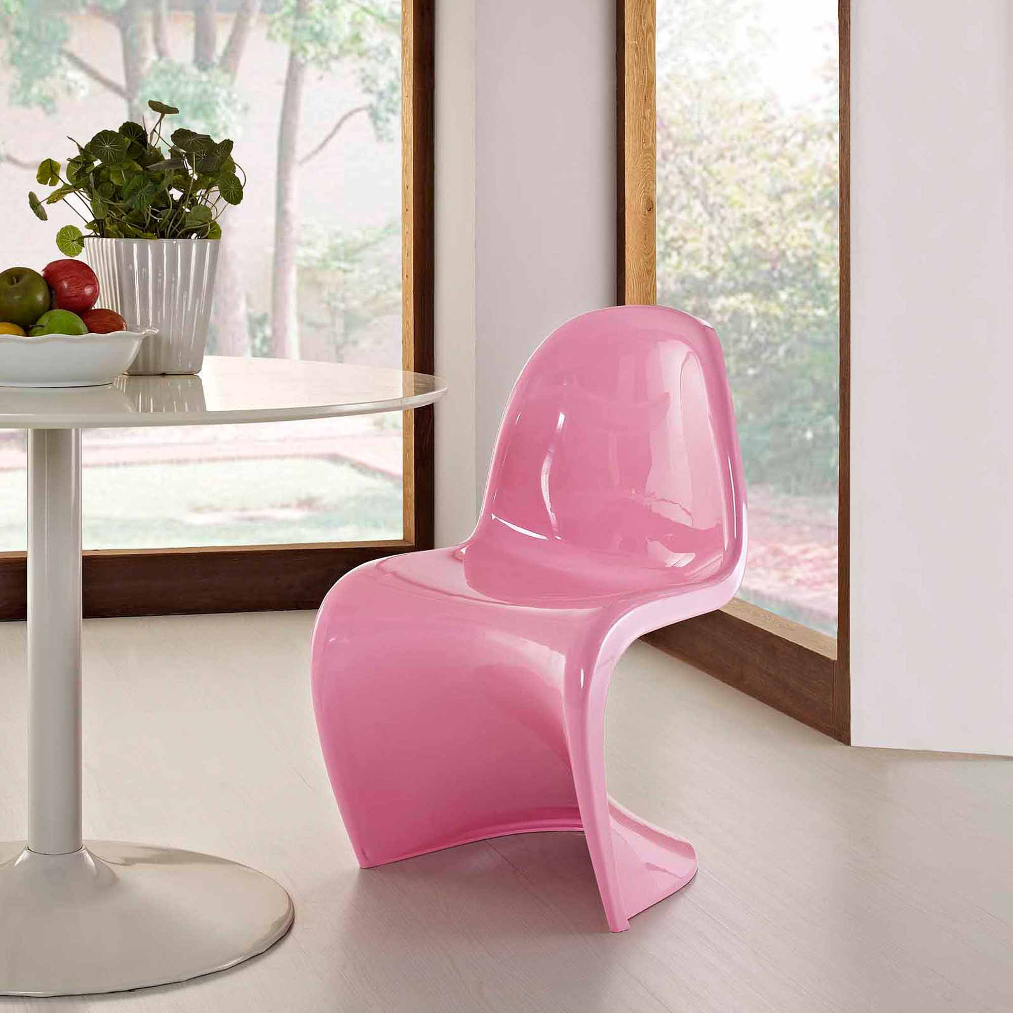 Modway Slither Stackable Dining Side Chair, Multiple Colors