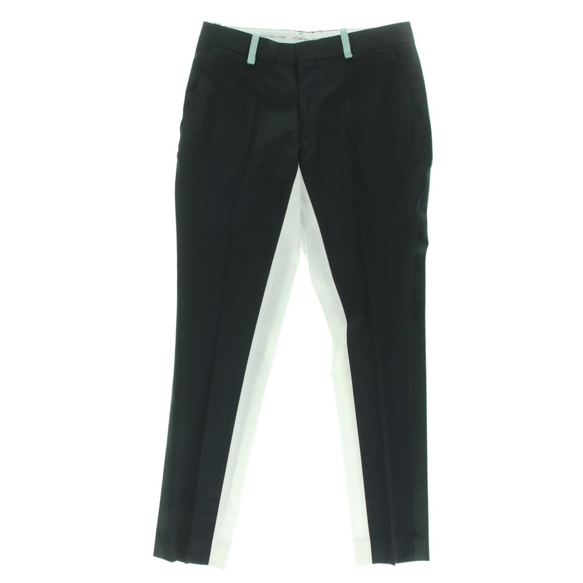 Each x Other Womens Wool Contrast Trim Tuxedo Pant by Womens Wool Coats