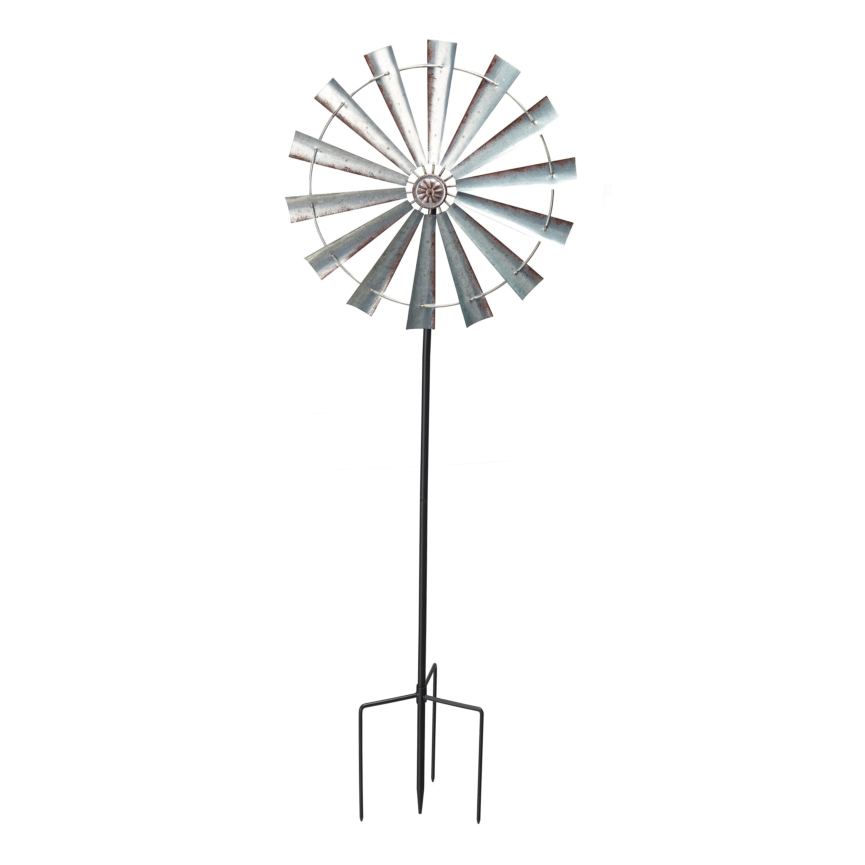 Mainstays Farmhouse Windmill Metal Outdoor Wind Spinner