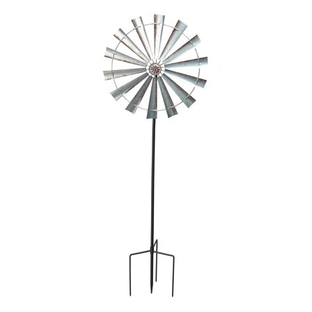 Mainstays Farmhouse Windmill Metal Outdoor Wind Spinner - Rainbow Wind Spinners