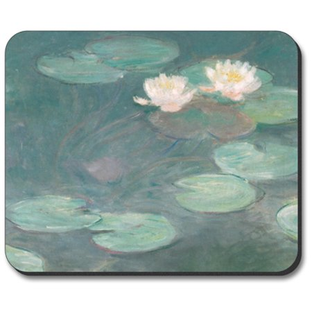 Monet Art Mouse Pad (Art Plates Mouse Pad - Monet: Water Lilies (Close-Up) )