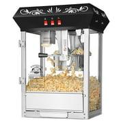 Superior Popcorn Black Countertop Movie Night Popcorn Popper Machine, 8 Ounce