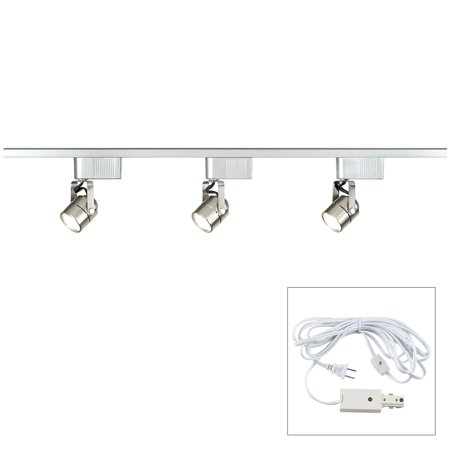 Pro Track® Brushed Nickel 150 Watt LV Track Kit - Plug In 09 Brushed Nickel Track