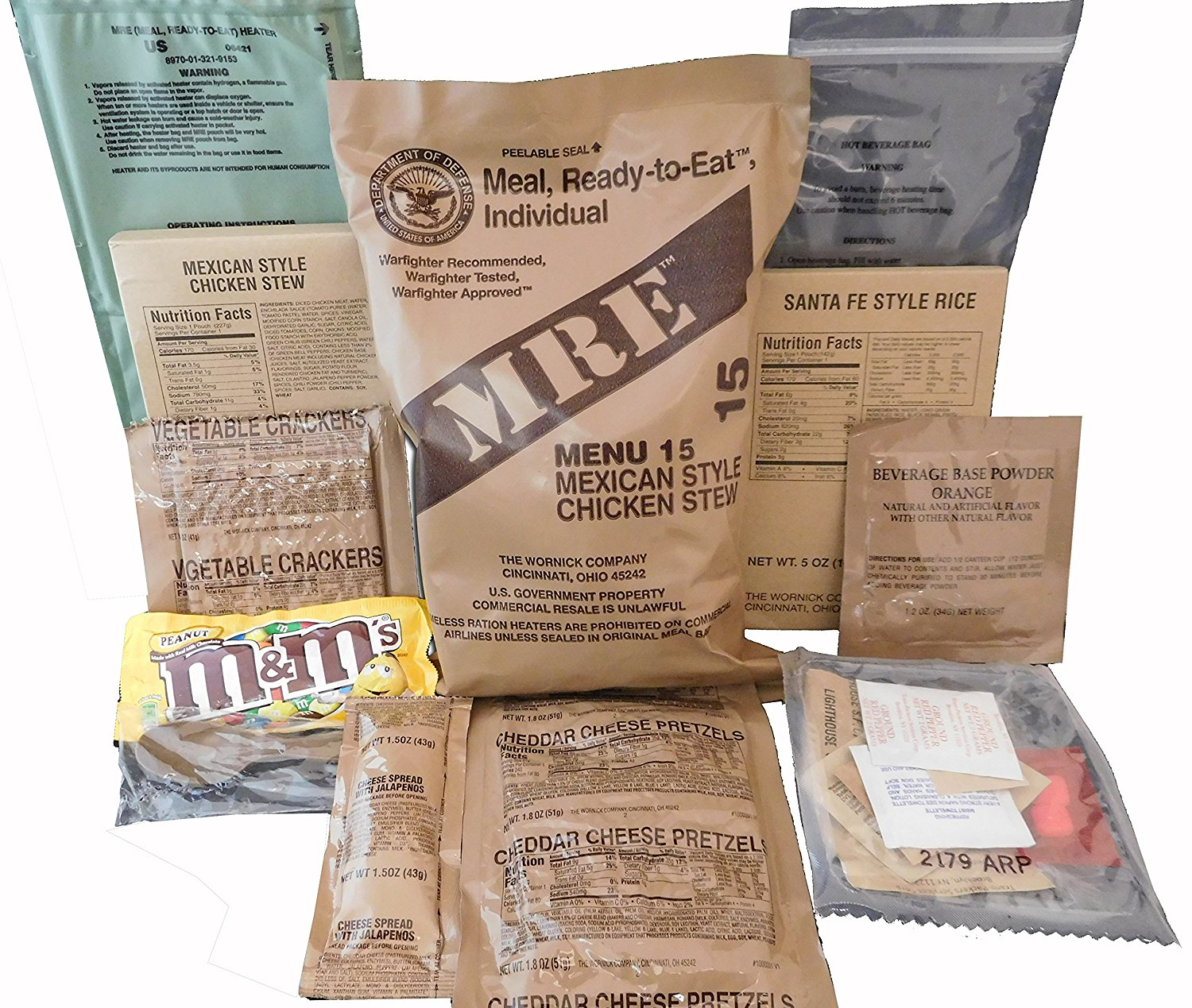 s (Meals Ready-to-Eat) Genuine U.S. Military Surplus (1 Pack) Assorted  Flavor 011636a82