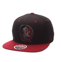 008ae38a Product Image FSU Florida State University Snapback Hat Zephyr Z11 Phantom  Black Cap