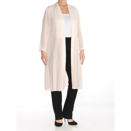 Alfani Jacket (ALFANI Womens Pink Chiffon Topper Wear To Work Jacket  Size: L )