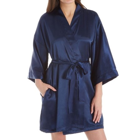 Women's Shadowline 4510 Charming Satin Wrap (Shadowline Stretch Robe)
