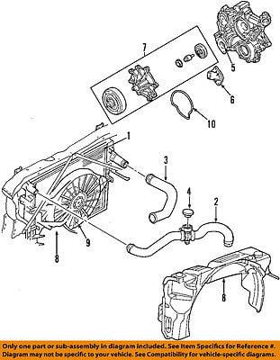 Dodge Chrysler Oem 01 04 Dakota Radiator Upper Hose 52028810am
