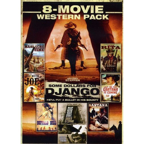 8-Movie Western Pack: Massacre Time / Holy Water Joe / Some Dollars For Django / Little Rita / Sartana Is Coming / Buffalo Bill / Sabata Is Coming / Santana Killed Them All