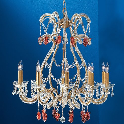 Classic Lighting Aurora 10-Light Candle Style Chandelier