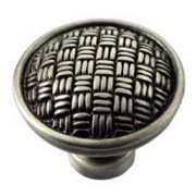 MNG Hardware MG-14511 1.25 in.Satin Silver Rattan Knob