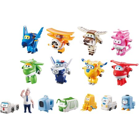 Super Wings Airport Crew Collector Pack (15 Figures) for $<!---->