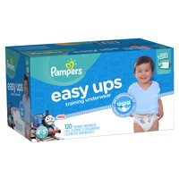 120 Count Pampers Easy Ups Training Pants Pull On Disposable Diapers for Boys Size 6