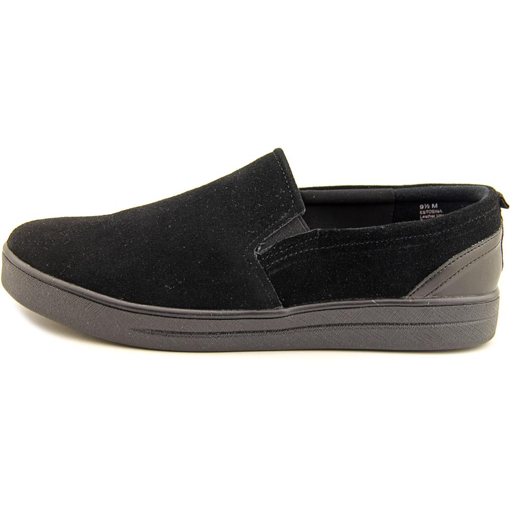 Easy Spirit Tosina Suede Women W Round Toe Suede Tosina Black Loafer 77a985
