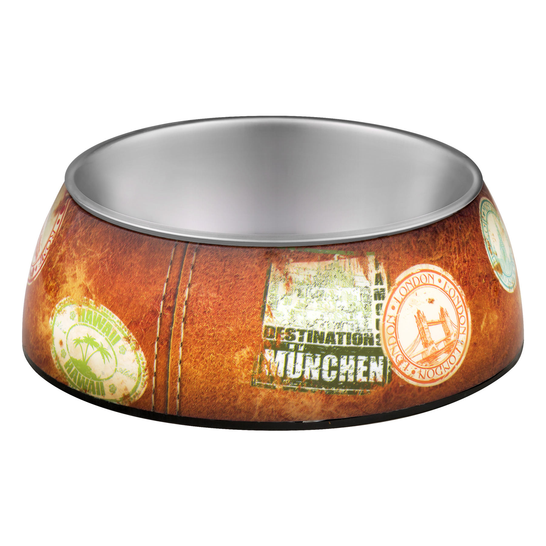 Loving Pets Milano Collection Bowl World Traveler Medium, 1.0 OZ