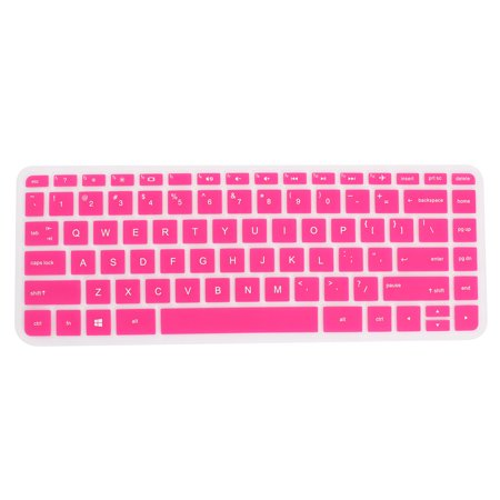 Computer Silicone Laptop Anti Dust Protector Skin Case Keyboard Cover Guard Fuchsia for HP 034, 14 Inch - Hp Keyboard Cover