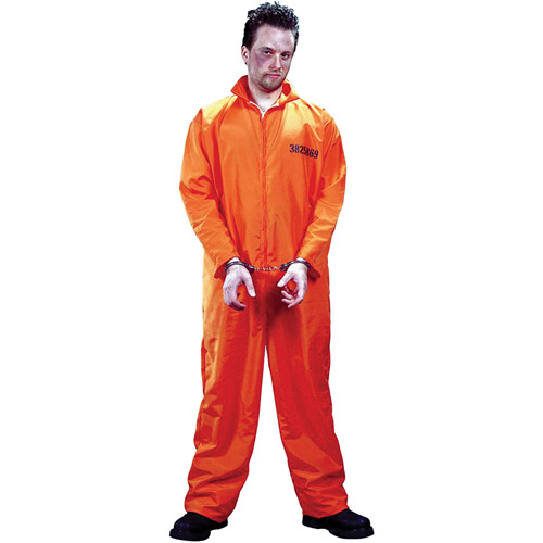 Got Busted Orange Jumpsuit Adult Halloween Costume - One Size ...