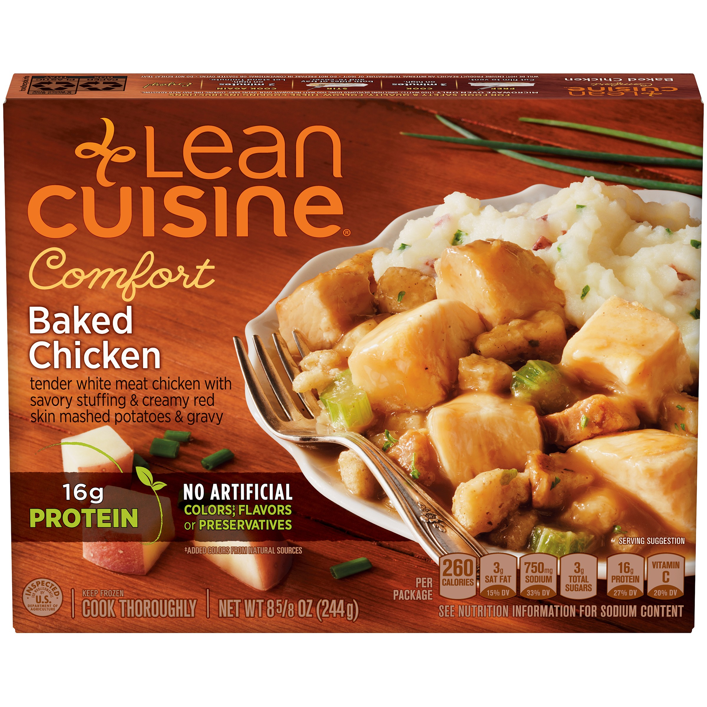 LEAN CUISINE COMFORT Baked Chicken 8.625 oz. Box
